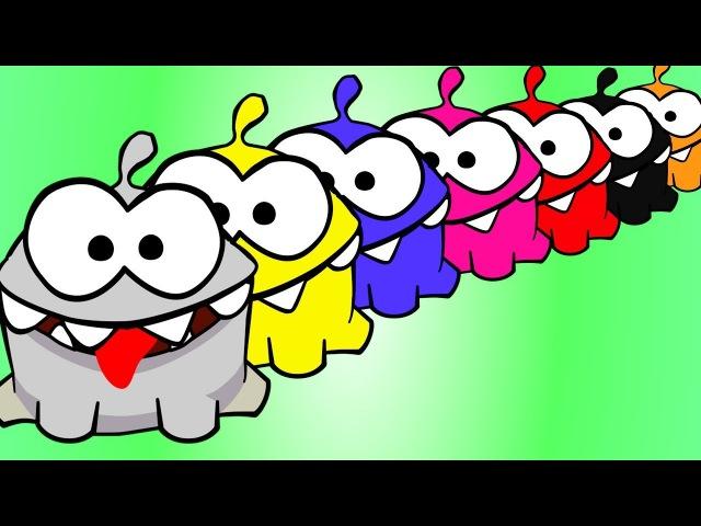 Видео для детей с игрушками. АМ НЯМ Раскраска. Учим цвета. Приключения Ам Няма. и ...