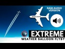 Погодный шар встретил реактивный лайнер удивительные кадры - RAW AUDIO EXTREMELY close Airbus A319 flyby captured by GoPro on