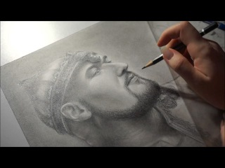 Speed drawing video portrait of Peter 'Peavy' Wagner (Rage singer) by Akadio