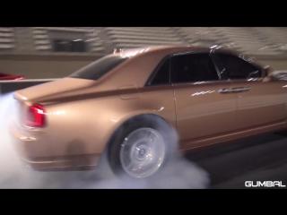 CoD | Arab Rolls Royce Ghost destroying tyres on the drag strip
