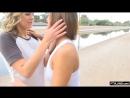 Lesbians messing around in public