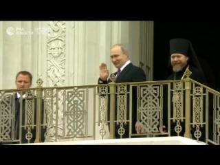 Церемония освящения нового храма Сретенского монастыря