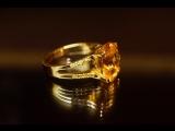 Изготовили солнечное кольцо из лимонного золота с желтым гранатом и желтыми сапфирами