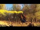 Цветной дым Астрахань. Smoke fountain yellow
