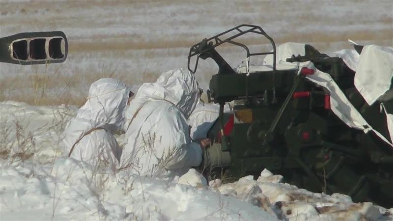 Қазақстандық әскери қызметшілердің қысқы кезеңдегі жауынгерлік даярлығы