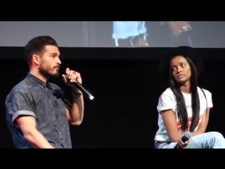 Майкл и Катерина - Публичные мероприятия- Дружба на съёмках (BloodyNightCon 2017)