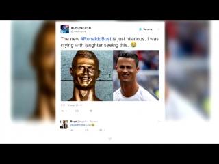 В соцсетях высмеяли новый памятник Роналду