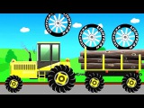 Тракторы для детей Мультфильмы про тракторы Машинки мультики Трактор мультик