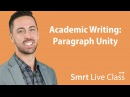 Academic Writing Paragraph Unity English for Academic Purposes with Josh 11