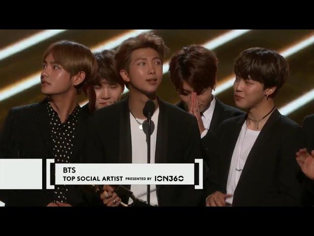 BTS (방탄소년단) Win Top Social Artist At The 2017 Billboard Music Awards Full Acceptance Speech!