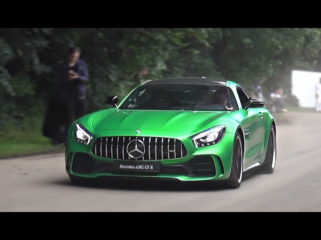 Mercedes AMG GT R drifts accelerations and revs