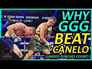 Why Gennady GGG Golovkin Beat Canelo Alvarez (Landed Punches Count) #CaneloGGG why gennady ggg golovkin beat canelo alvarez (lan