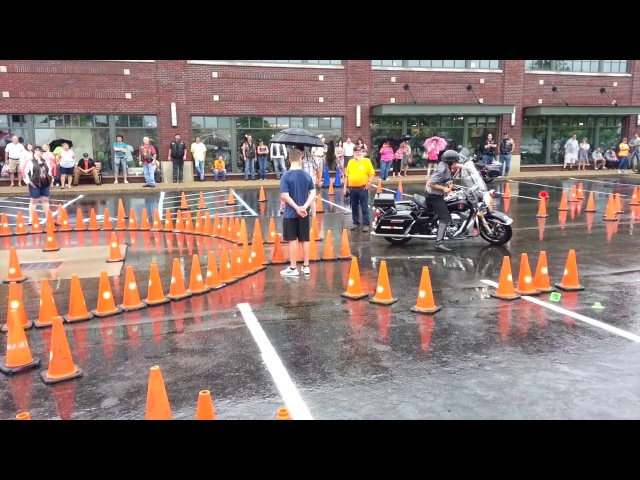 A Police Motorcycle Competition