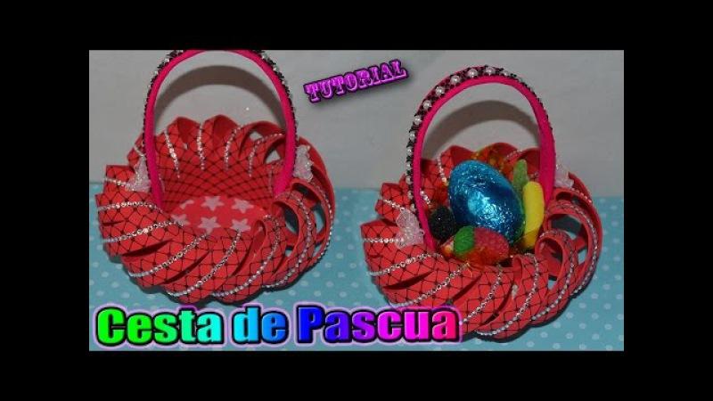 ♥ Tutorial Cesta o Canastita de Pascua hecha de Goma Eva Foamy || Easter Basket ♥