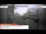 Легковушка врезалась в автобус на перекрёстке Малышева - Мира
