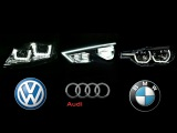 Audi A3 Vs BMW 3 Series Vs VW Golf 7 - LED Lights