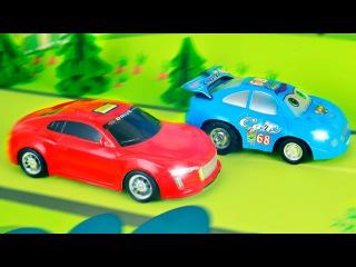 Yarış Arabası ve Ambulans - Akıllı arabalar - Eğitici Çizgi Film - Türkçe İzle