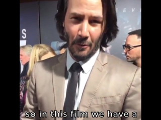 Keanu was super excited for that badass pencil sequence in John Wick: Chapter 2!