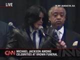 Michael Jackson speaks at James Browns funeral