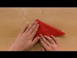 Как сложить салфетки_ Бабочка - Бабочка из салфетки