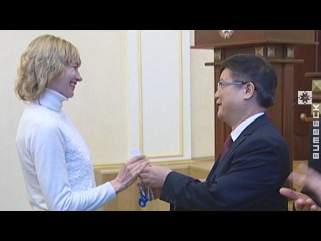 Ключы ад кватэр атрымалі жыхары новага дома (05.05.2017)