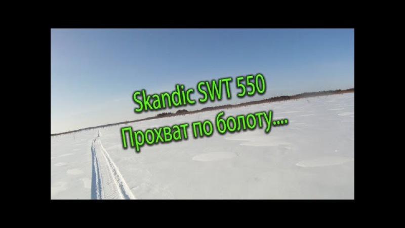 Прохват по болоте на Skandic SWT 550