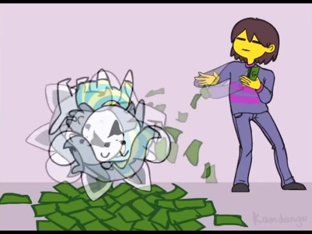 Undertale Temmie get money · coub, коуб
