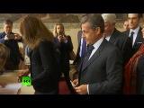 Николя Саркози и Карла Бруни проголосовали на выборах президента Франции. 23.04.2017.