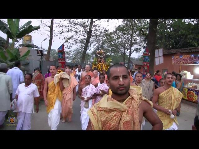 2017 Sri Sri Radha Madhava's Boating Pastime during Gaura Purnima Festival.
