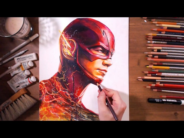 The Flash : Barry Allen (Grant Gustin) - speed drawing   drawholic