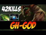 GH-GOD Plays Pudge WITH 42 KILLS - 8700 MMR - Dota 2