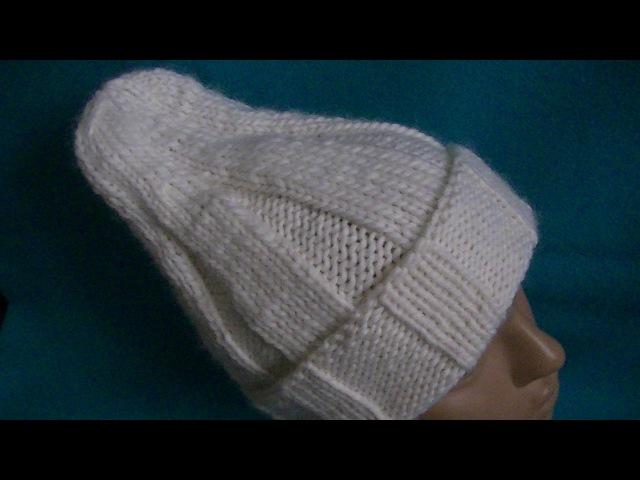 Вязание удлиненной шапки .