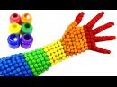 СЕМЬЯ ПАЛЬЧИКОВ НА РУССКОМ и конфеты MMs Песенка про пальчики Finger Family Учим цвета....