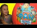 ЩЕНЯЧИЙ ПАТРУЛЬ Огромное яйцо Киндер с сюрпризами Paw Patrol
