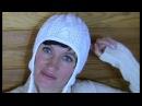 Шапка спицами с УШКАМИ. 1 видео. Белая шапочка спицами с ушками. ВЯЗАНИЕ вязаные шапки спицами