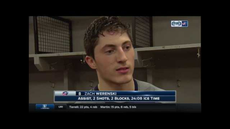 Blue Jackets' rookie Zach Werenski on competing against Alex Ovechkin