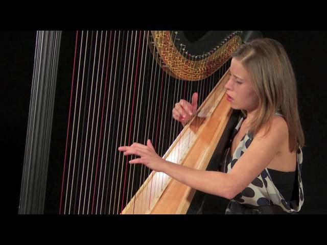 Claude Debussy - Reverie - by London harpist - Valeria Kurbatova