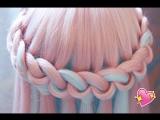 Очень нежный водопадик из волос. Как тебе идея?