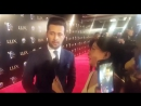 Atif Aslam Speaking to Dhanak at the Red Carpet of LSA2017