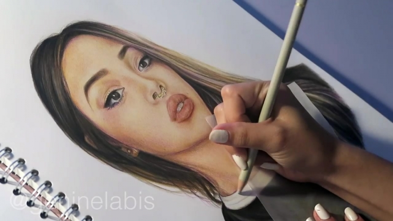 Lily Maymac Speed Drawing -- Faber Castell Polychromos Coloured Pencils