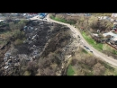 Оползень в Ульяновске с высоты птичьего полета