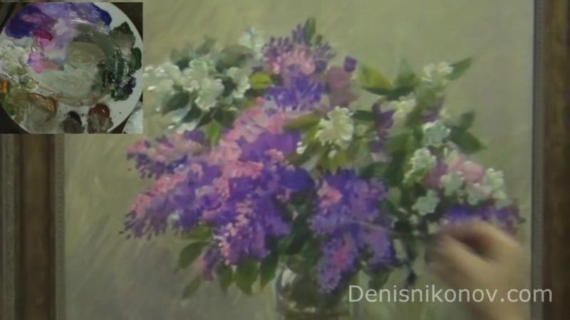 Как нарисовать сирень акрилом. Денис Никонов