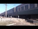 Электропоезд эд2т-1005 сообщением 6003 Изюм-Красный Лиман прибывает на платформу Подгорки