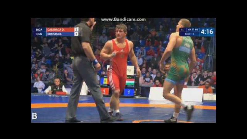 GOLD Daniel CATARAGA (MDA) vs. Balint KORPASI (HUN) 71кг