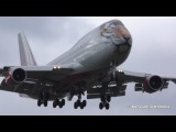 B747 Як-40 посадка с ветерком Внуково Сентябрь 2016 B747 Yak-40 VKO Vnukovo
