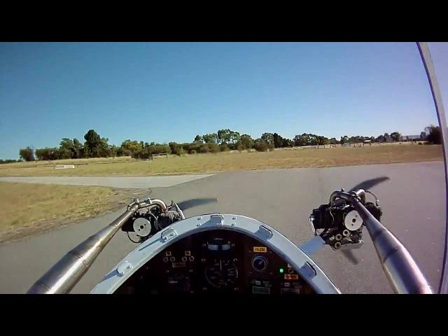 Самый маленький самолет с винтовыми двигателями Colomban CriCri Colomban CriCri Beach Fun Flight
