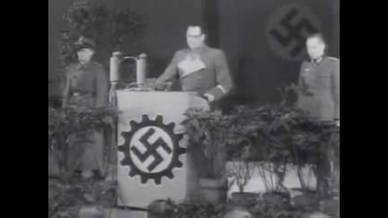 Выступление генерала Власова перед рабочими и военнопленными, 1944 год