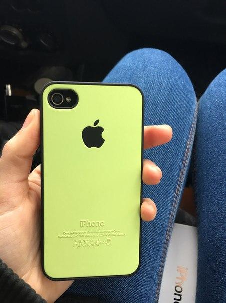 Был утерян телефон iphone 4c черный, в зелёном чехле  Телефон введен в