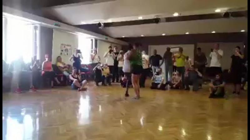 Ozy Shyne Sembas class- Impro after class Cubanero Salsa Festival with Miss Eva.