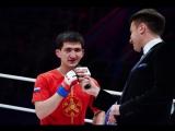 Селем Евлоев выражает благоданость после своей победы